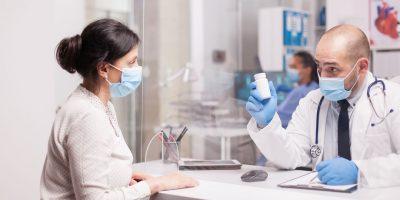 Doctor With Mask Against Coronavirus JE3CVPA